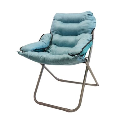 Alijah Papasan Chair Upholstery: Calm aqua