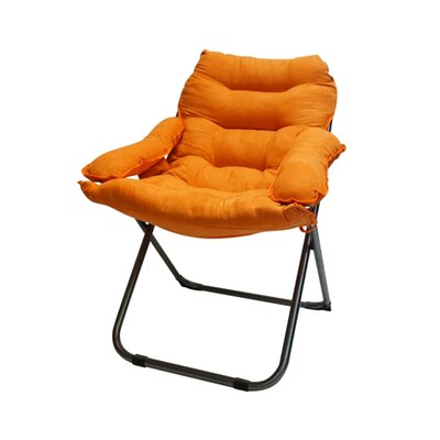 Alijah Papasan Chair Upholstery: Orange