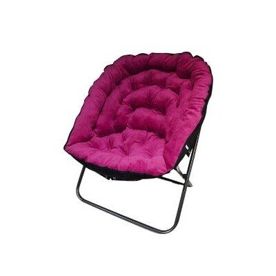 Manzelli Papasan Chair Upholstery: Pink
