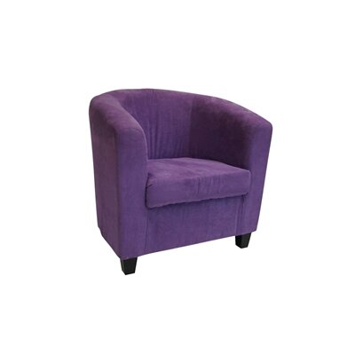 Alexina Barrel Chair Upholstery: Purple