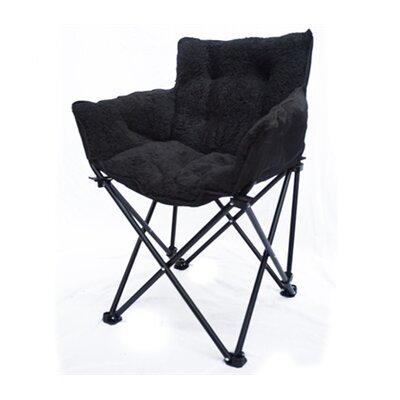 Tack Cushion Papasan Chair Upholstery: Black