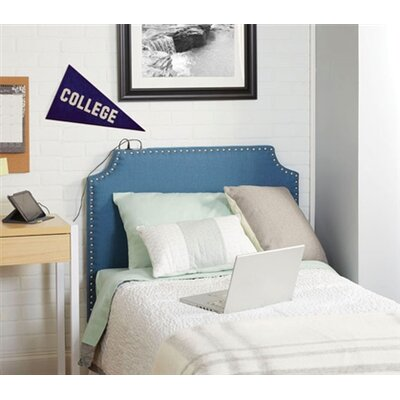 Birdsview Powered Upholstered Panel Headboard Upholstery: Blue