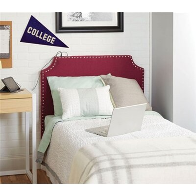 Birdsview Powered Upholstered Panel Headboard Upholstery: Berry