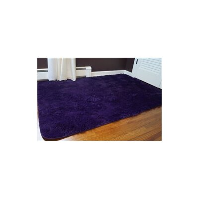 Ledoux Plush Purple Area Rug Rug Size: 3 x 5