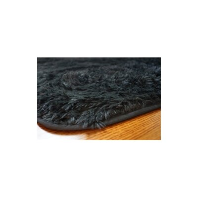 Ledoux Plush Black Area Rug Rug Size: 4 x 6