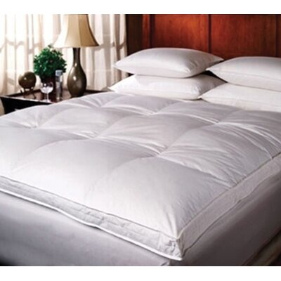 Luxury Feather Mattress Topper Size: Queen, Fill Material: Goose