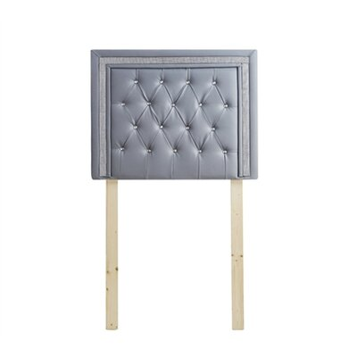 Ikin Twin Upholstered Panel Headboard Color: Alloy/Silver Crystal