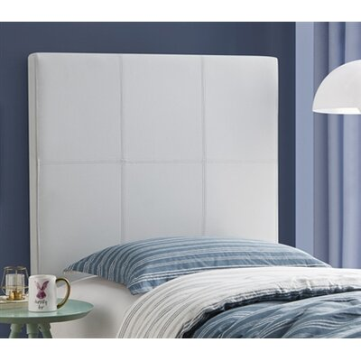 Cleasby Classic Twin Upholstered Panel Headboard Color: Gray