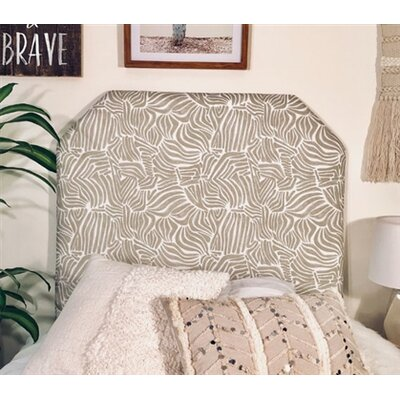 Honn Beveled Twin/Twin XL Upholstered�Panel Headboard Upholstery: Gray