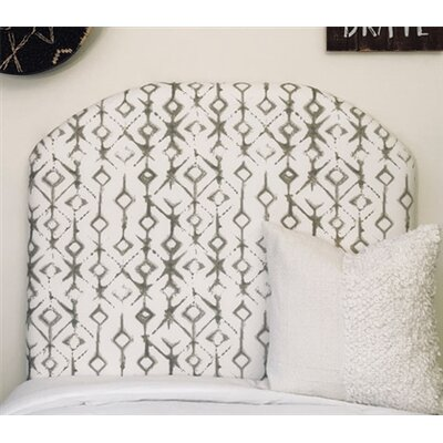 Honore Twin/Twin XL Upholstered�Panel Headboard Upholstery: Gray