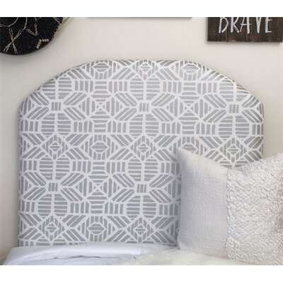 Hoopes Ribble Twin/Twin XL Upholstered�Panel Headboard Upholstery: Silver