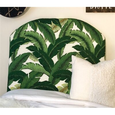 Houghtaling Leaf Arched Twin/Twin XL Upholstered Panel Headboard