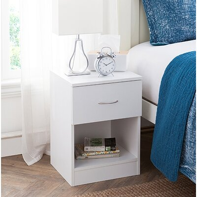 Remillard Standard 1 Dwawer Nightstand Color: White