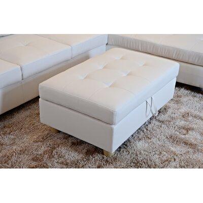 Storage Ottoman Upholstery: White