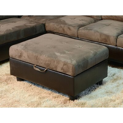 Storage Ottoman Upholstery: Taupe Microfiber