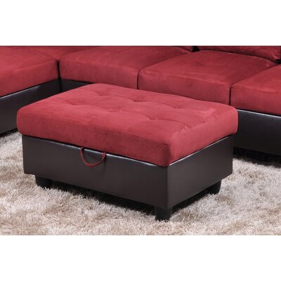Storage Ottoman Upholstery: Oakwood Microfiber