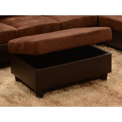 Storage Ottoman Upholstery: Chocolate Microfiber