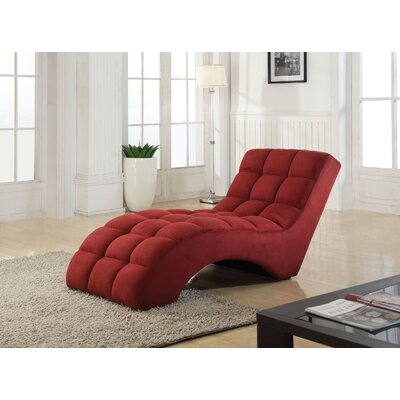 Chaise Lounge Upholstery: Red