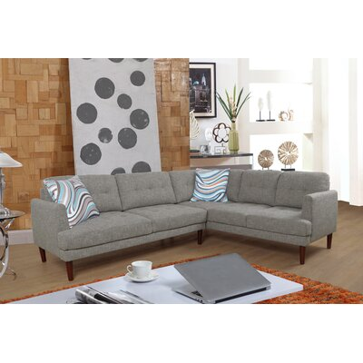 Dahlke Sectional Upholstery: Linen Gray, Orientation: Right Hand Facing