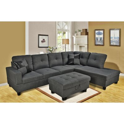 Sectional with Storage Ottoman Orientation: Right Hand Facing