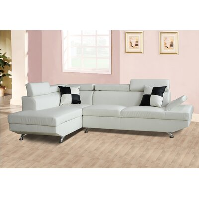 Sectional Orientation: Left Hand Facing, Upholstery: White