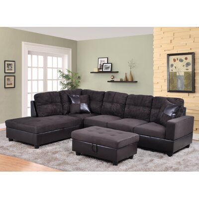 Sectional Orientation: Left Hand Facing, Upholstery: Dark Chocolate