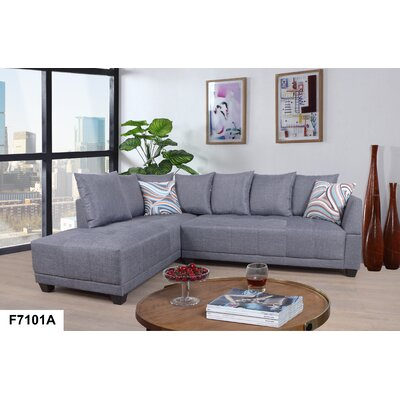 Sectional Orientation: Left Hand Facing, Upholstery: Linen Gray