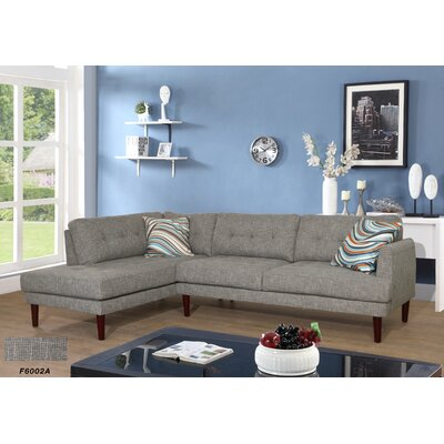 Sectional Upholstery: Gray/Black, Orientation: Left Hand Facing