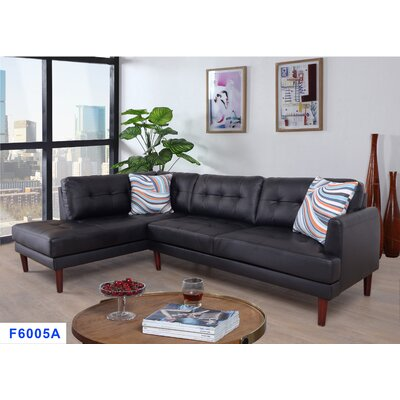Byron Sectional Upholstery: Black, Orientation: Right Hand Facing
