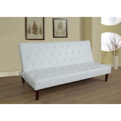 Convertible Sofa Upholstery: White