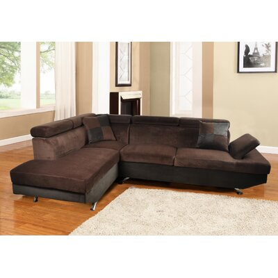 Sectional Orientation: Left Hand Facing, Upholstery: Chocolate