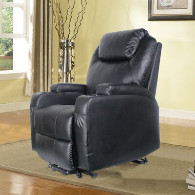 Power Lift Assist Recliner Upholstery: Black