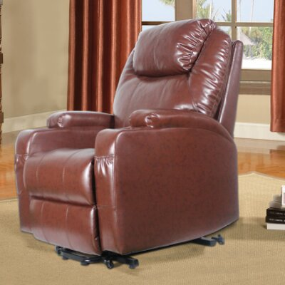 Power Lift Assist Recliner Upholstery: Brown