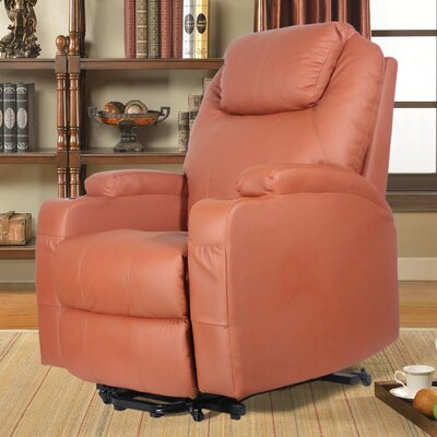 Power Lift Assist Recliner Upholstery: Orange