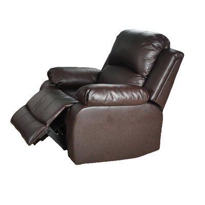 Corley Manual Lift Assist Recliner Upholstery: Brown