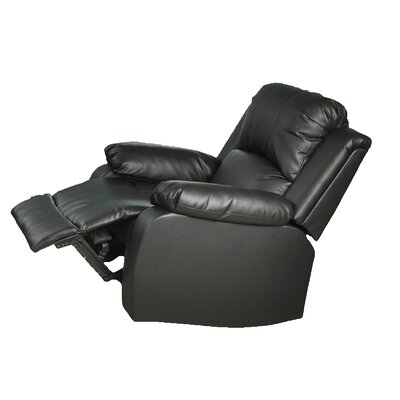 Corley Manual Lift Assist Recliner Upholstery: Black