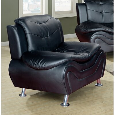 Heton Slipper Chair Color: Black