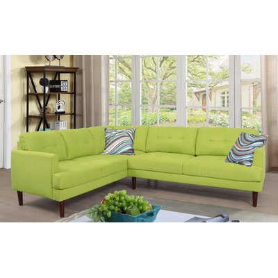 Sectional Upholstery: Chartreuse, Orientation: Left Hand Facing