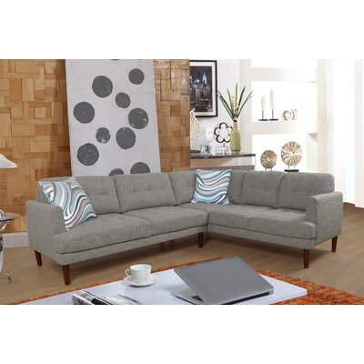 Sectional Orientation: Right Hand Facing, Upholstery: Linen Gray