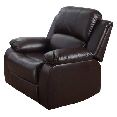 Modena Faux Leather Recliner Color: Brown
