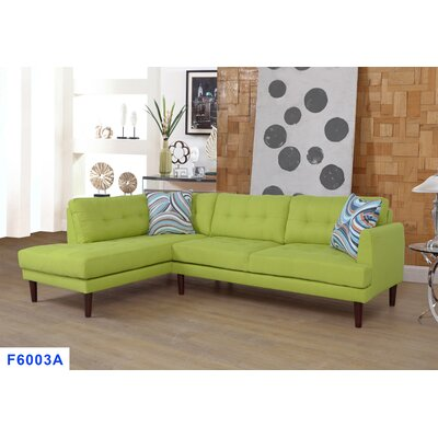 Sectional Upholstery: Lime Green, Orientation: Left Hand Facing