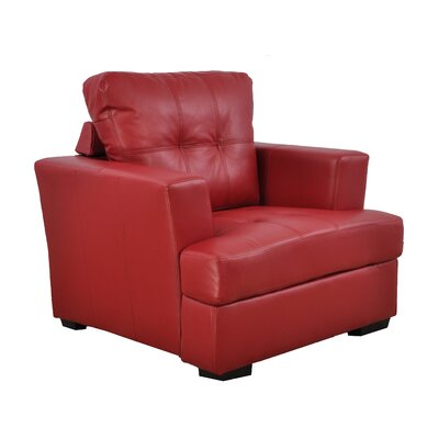 Lainey Armchair Upholstery: Red