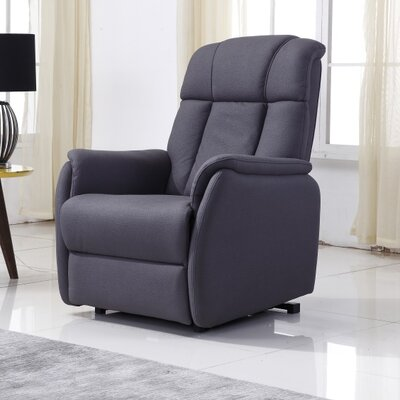 Anton Power Lift Assist Recliner Upholstery: Dark Gray