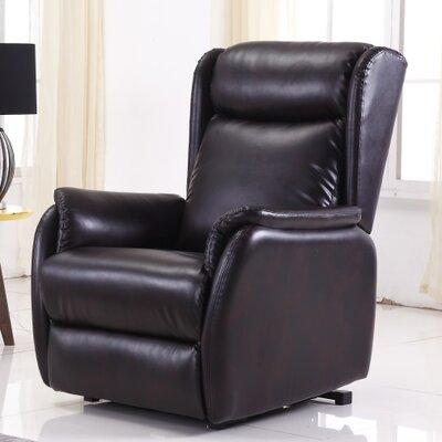 Anton Power Lift Assist Recliner Upholstery: Brown