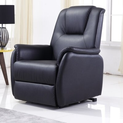Anton Power Lift Assist Recliner Upholstery: Black