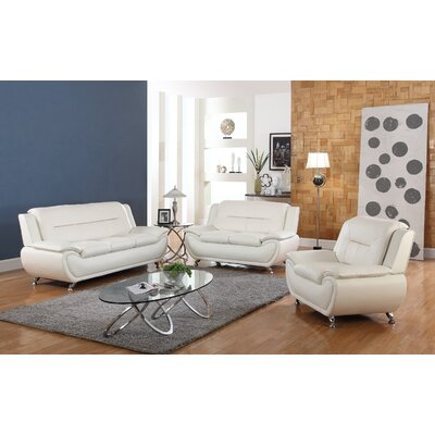 Utica Avery Loveseat Upholstery: White