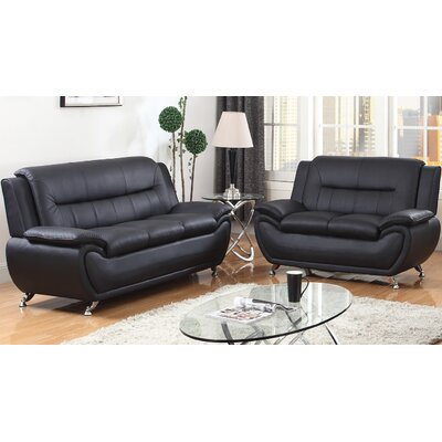 Upton Avery Sofa Upholstery: Black
