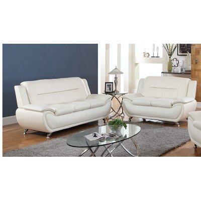 Upton Avery Sofa Upholstery: White