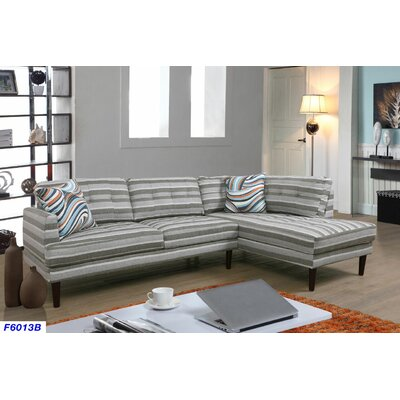 Sectional Upholstery: Stripe, Orientation: Right Hand Facing