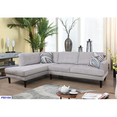 Sectional Upholstery: Light Gray, Orientation: Left Hand Facing